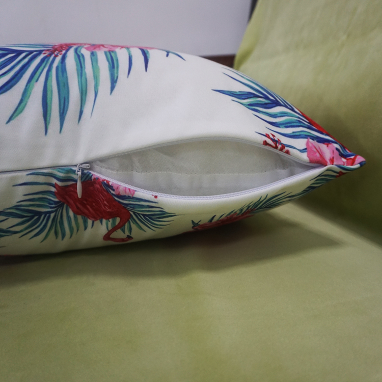 45x45cm Customized decorative Size Tropical Style Flamingos Digital Printing Pillow Cover For Car Seat