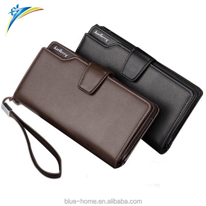 2017 Top selling Baellerry PU leather <strong>wallet</strong> for business men Young male clutches purse