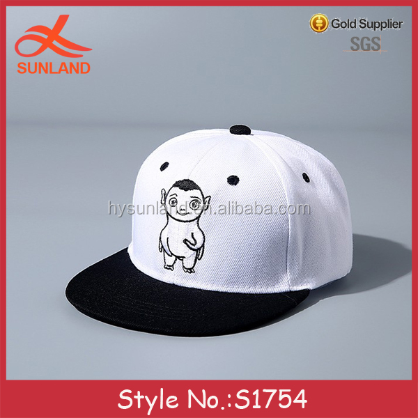 S1754 hot selling cheap custom made no minimum wholesale kids toddler adjustable snapback hats
