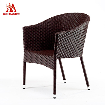 Wholesale Outdoor Garden Rattan Wicker Patio Chair With Metal Frame
