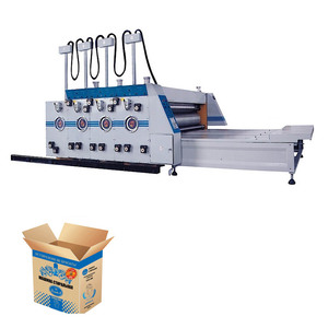 Automatic chain feeding flexo printing and slotting machine corrugated carton box making machine prices printer slotter