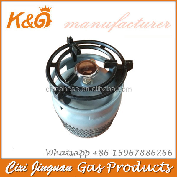 Kenya 6kg Gas Cylinder with Gas Burner and Grill Parts Filling LPG China Manufacturer Wholesale