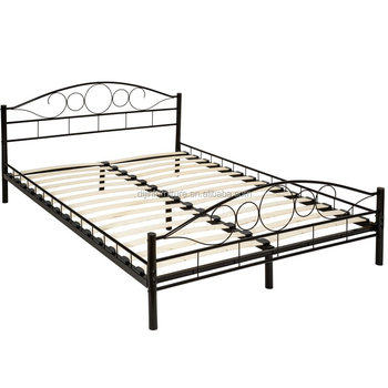 Tectake Double Metal Bed Frame King Size Modern Bedroom 140x200cm ...
