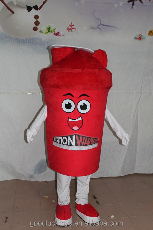 Tea with milk mascot costume for advertising/coffee cup mascot costume