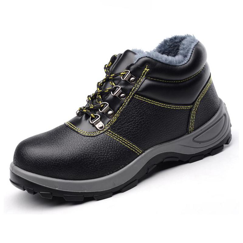 Men's Buffalo Leather Steel Toe And