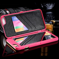 Fashion Lady 3D Water Flip PU Leather Case for iphone 6s/6sp, Wallet Mirror Case Dual Layer Card Slot Cover