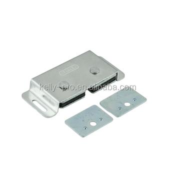 Magnetic Cabinet Cupboard Door Catch, Aluminum Shell Wardrobe Double Magnet  Lock Latch Furniture Kitchen Cabinet