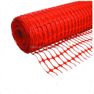 orange plastic construction fencing safety barrier gate