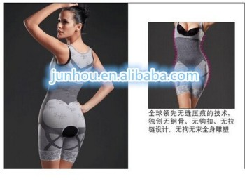 2015 cheapest women Bamboo Charcoal Seamless Slimming BodySuit full Body Shaper