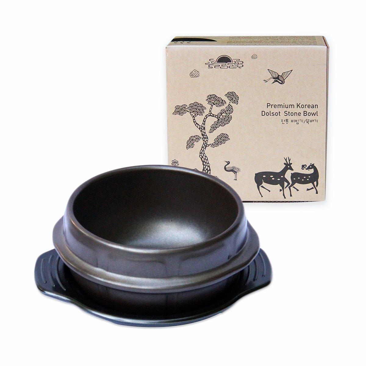 "Sizzling Plate for Steak, Fajita, Bulgogi, Galbi, Korean BBQ Sizzler - Premium Ceramic (8"", Dia. Small)"