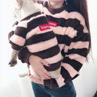 2019 New Type Teddy Bear Cotton Padded Hot Sale Autumn Winter Pet Clothing Plus Velvet T Shirt Popular Logo Hoodie Jacket