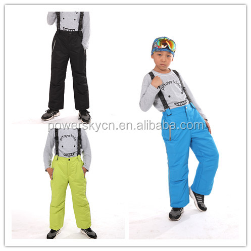 kids reflective winter ski pants