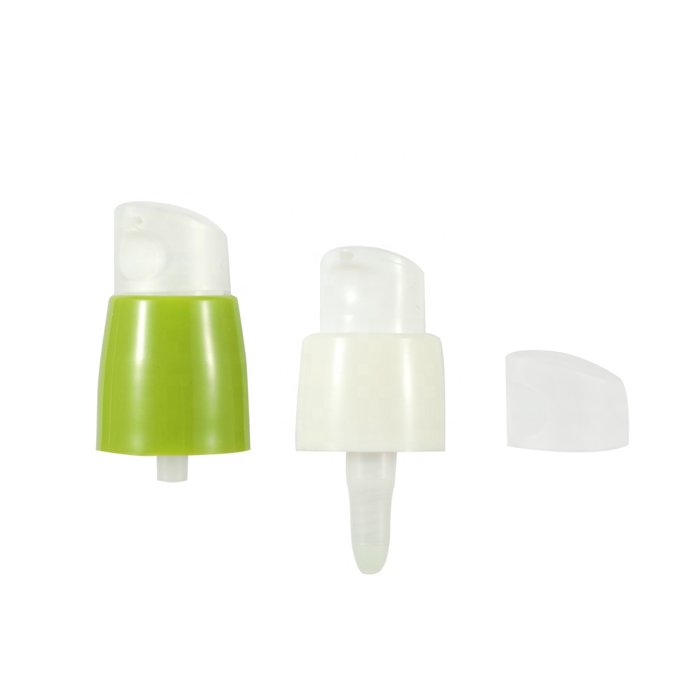 Cream pump with dust cover for plastic bottle 18 410 20 410