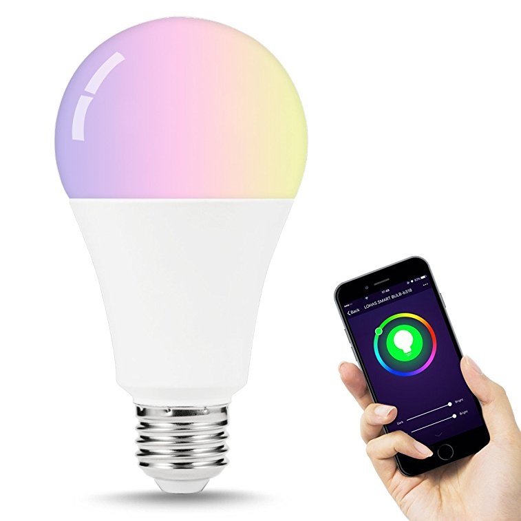 Remote Control RGB <strong>LED</strong> <strong>Bulb</strong> 14W E26 E27 B22 Tuya <strong>Smart</strong> <strong>Led</strong> Light Compatible with Alexa Echo Google Home Siri