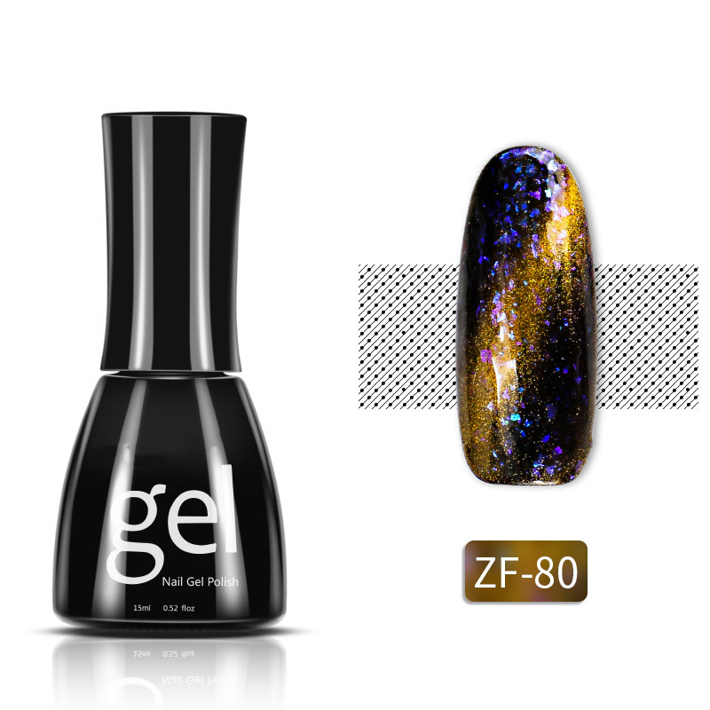 Amazon hot sale 15ml Starry sky cats eye effect long lasting LED UV Gel Polish for Nail