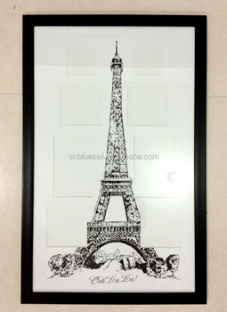 black ps frame for picture dry mount picture frames scenic frame by eiffel tower - Eiffel Tower Picture Frame