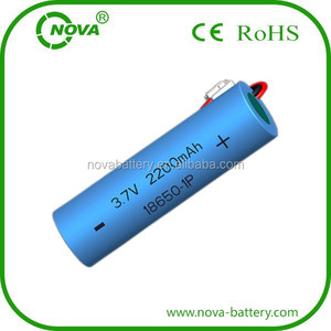 18650 li-ion rechargeable li ion battery cell 3.7v 2.2ah manufacturer