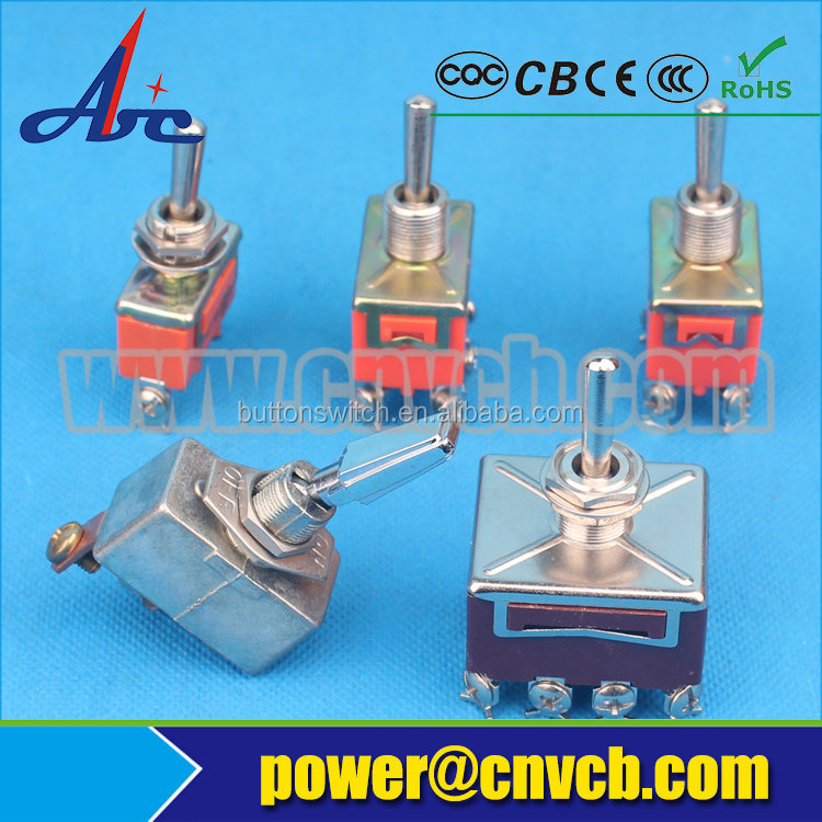 Abbeycon on-(off) spring loaded toggle switch