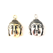Best seller stainless steel jewelry buddha heads loose beads for jewelry bracelets making (CM-003)