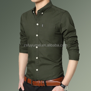 wholesale high quality casual button down collar long sleeve for men clothing