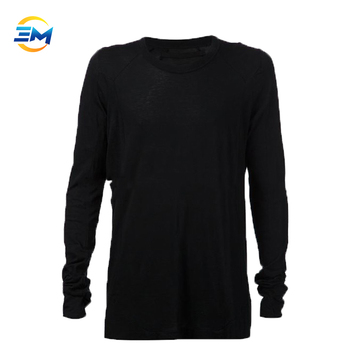 2018 custom Blank Long Sleeves Wholesale T shirts Black For Man clothing online shop china