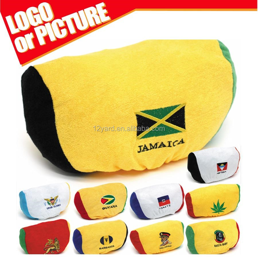 Americas Cup Printed Chile Jamaica National Flag Car Seat Headrest Cover Polyester Stadium Covers