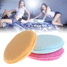 1Pc Voiture Polissage à la Cire En Mousse Microfibre Texture Douce Éponge <span class=keywords><strong>Applicateur</strong></span> Propre Détaillant Tampons