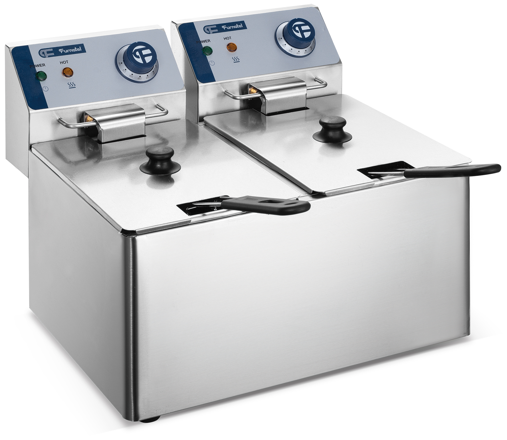 Chinese Factory Direct Cooking Equipment Commercial Chicken Deep Fryer Machine 8L*2 (In Stock)