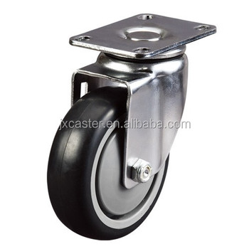 Industry Medium duty Swivel PU industrial caster wheel with Top Plate, esd caster wheels,hospital caster,