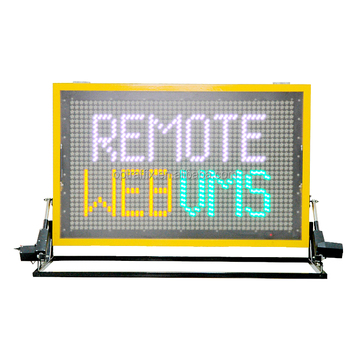 OPTRAFFIC New Design Remote Control Outdoor Use Color Traffic Led Car Message Signs Vehicle Truck Mounted VMS