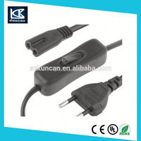 eu plug 2 pin 2pin laptop adapter ac power cord