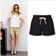 2018 Summer Shorts Women High Waist Fashion Khaki White Black Loose Feminino Shorts For Women Shorts Plus Size