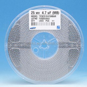 Tcscs1e475mbar Samsung Smd 475 Tantalum 4.7uf 25v Capacitors