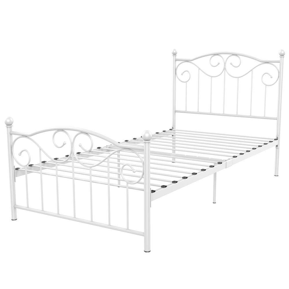 Cheap White Metal Bed Frame Single, find White Metal Bed Frame ...