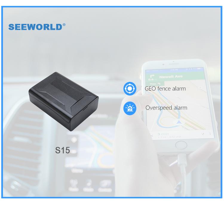SEEWORLD Глобальный Лидер продаж 7500 мАч Мини GPS трекер длительный срок службы батареи Устройства Слежения S15 с 3 года ожидания