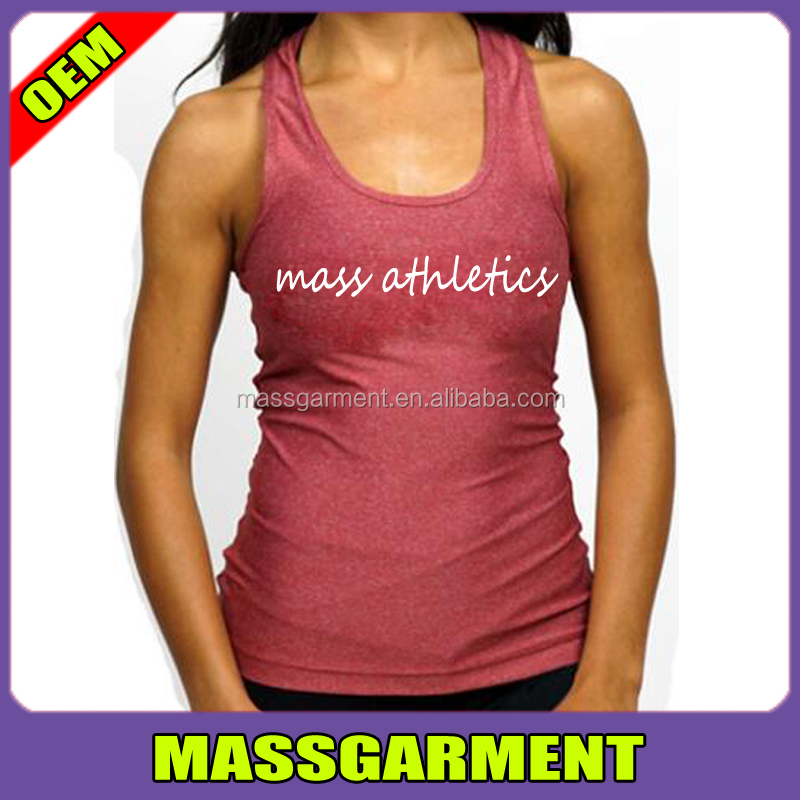 Latest Cotton/Spandex Yoga Singlets Women Fitted Gym Tank Tops