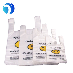 China wholesale manufacturer custom print size LDPE/HDPE packing shopping opp printing biodegradable poly t-shirt plastic bag
