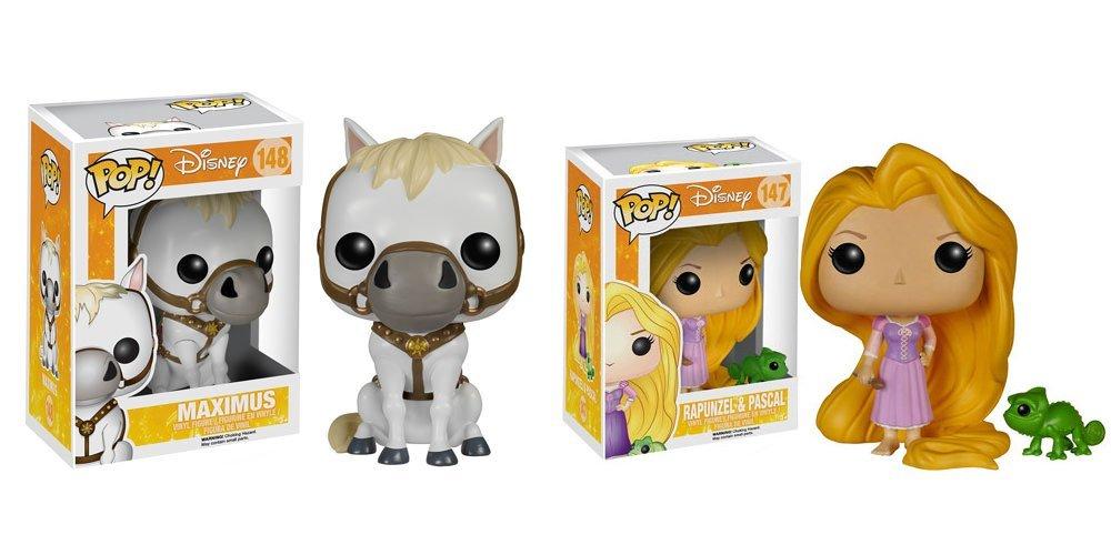 Disney Tangled Maximus, Rapunzel and Pascal Pop! Vinyl Figures