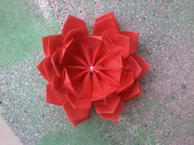 Red Origami Lotus Flower Buy Lotus Origami Flower Product On