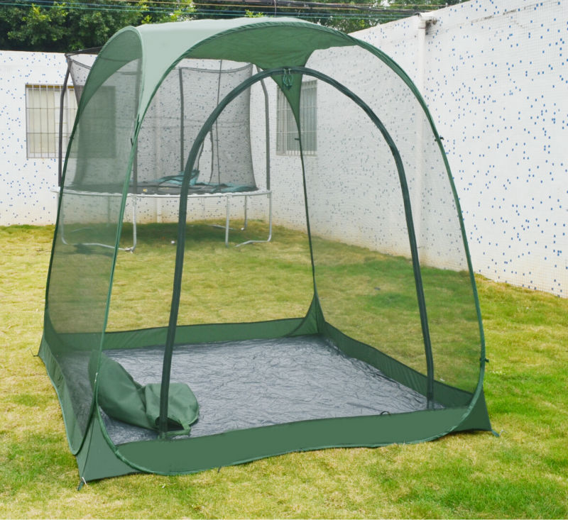Steel Wire Mosquito Tent Pop Up Family Large Portable Outdoor Gazebo Garden