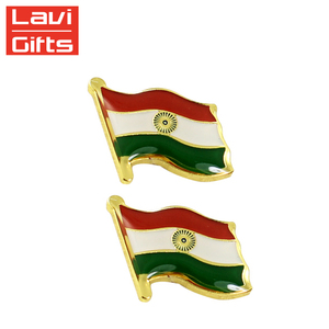 Cheap Custom Hard Enamel India Flag Lapel Pin Badge