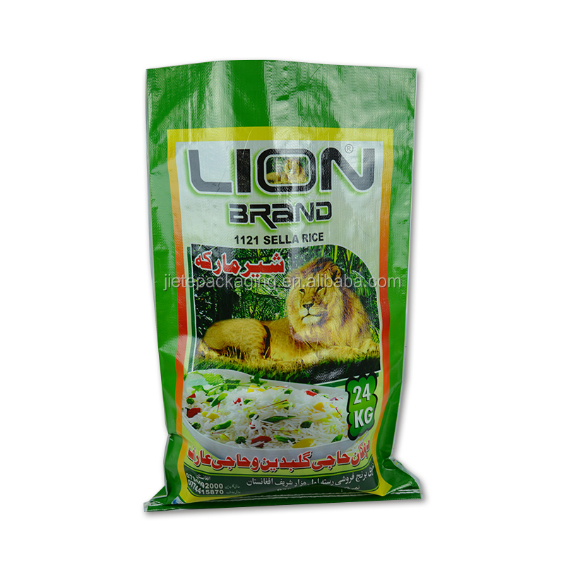 Customized laminated pp woven food packaging flour, rice, grain, corn bag for sale manufacturer