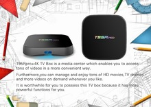 T95R PRO Amlogic S912 Android TV Box Octa core 2G/16G Android 6.0 TV Box WiFi 2.4G/5.8G BT4.0 H.265 4K Smart TV Player