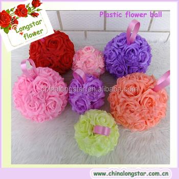 Pas Cher En Gros Colore De Mariage Rose En Plastique Boule De Fleur