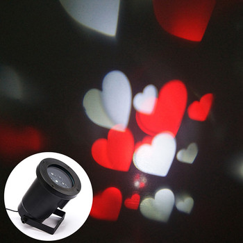 12 volt led outdoor christmas red heart shape light projector