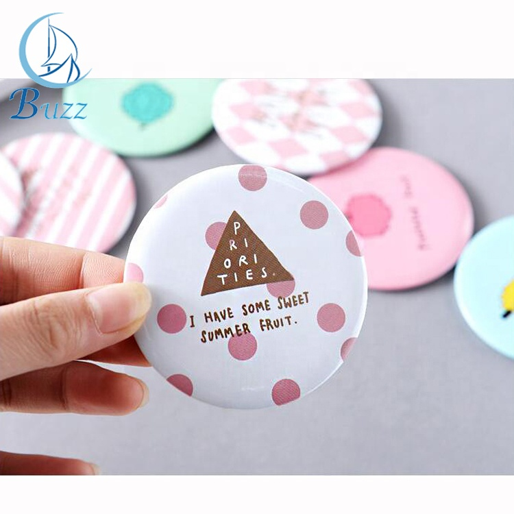 Girls pocket mirror can foldable makeup mirror compact mirror