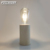 Natural wood restaurant table battery operated edison decorative lamp