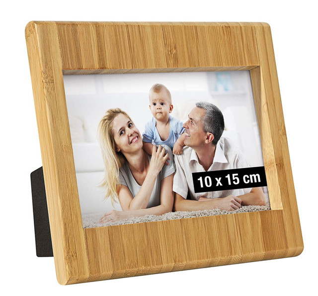 standing multi bamboo wood photo frame/picture frame