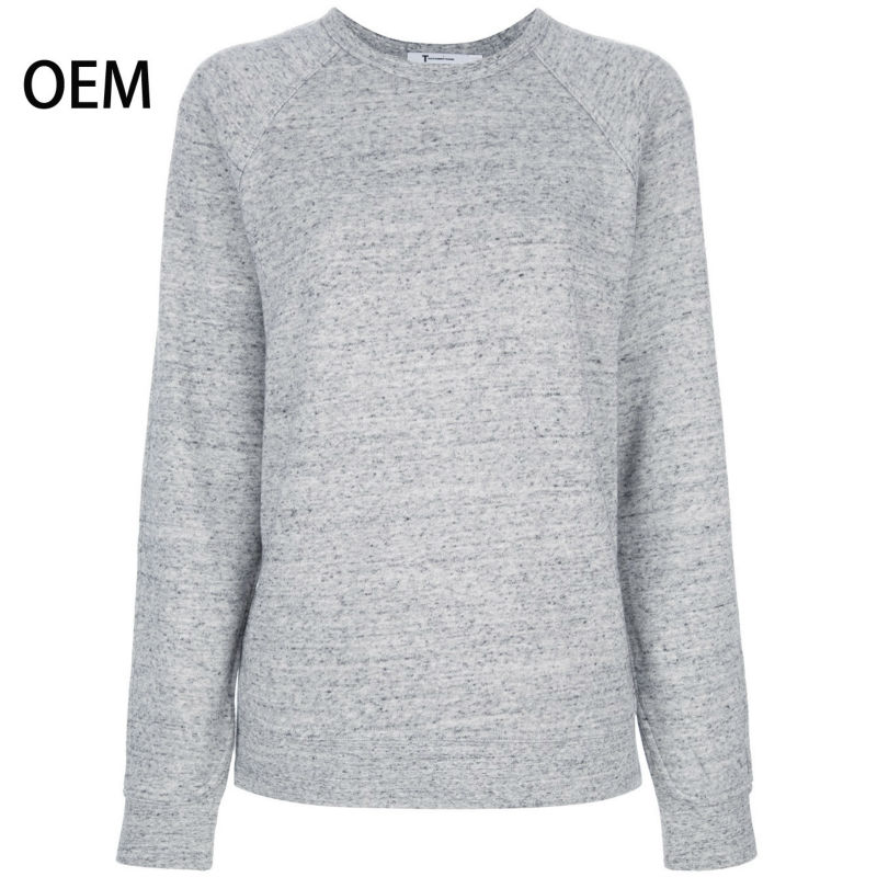 Women Grey Fleece Plain Sweatshirts Without Hood - Buy Plain ...