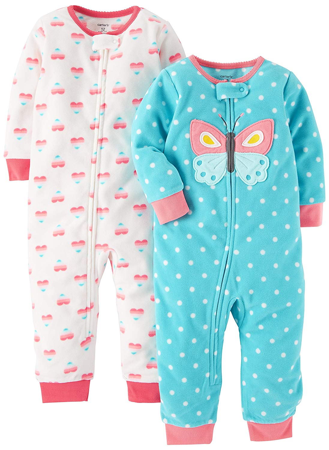 4903714b84 Carter s Baby Girls  2-Pack Fleece Footless Pajamas